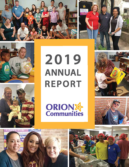 Orion Communities 2019 Annual Report cover