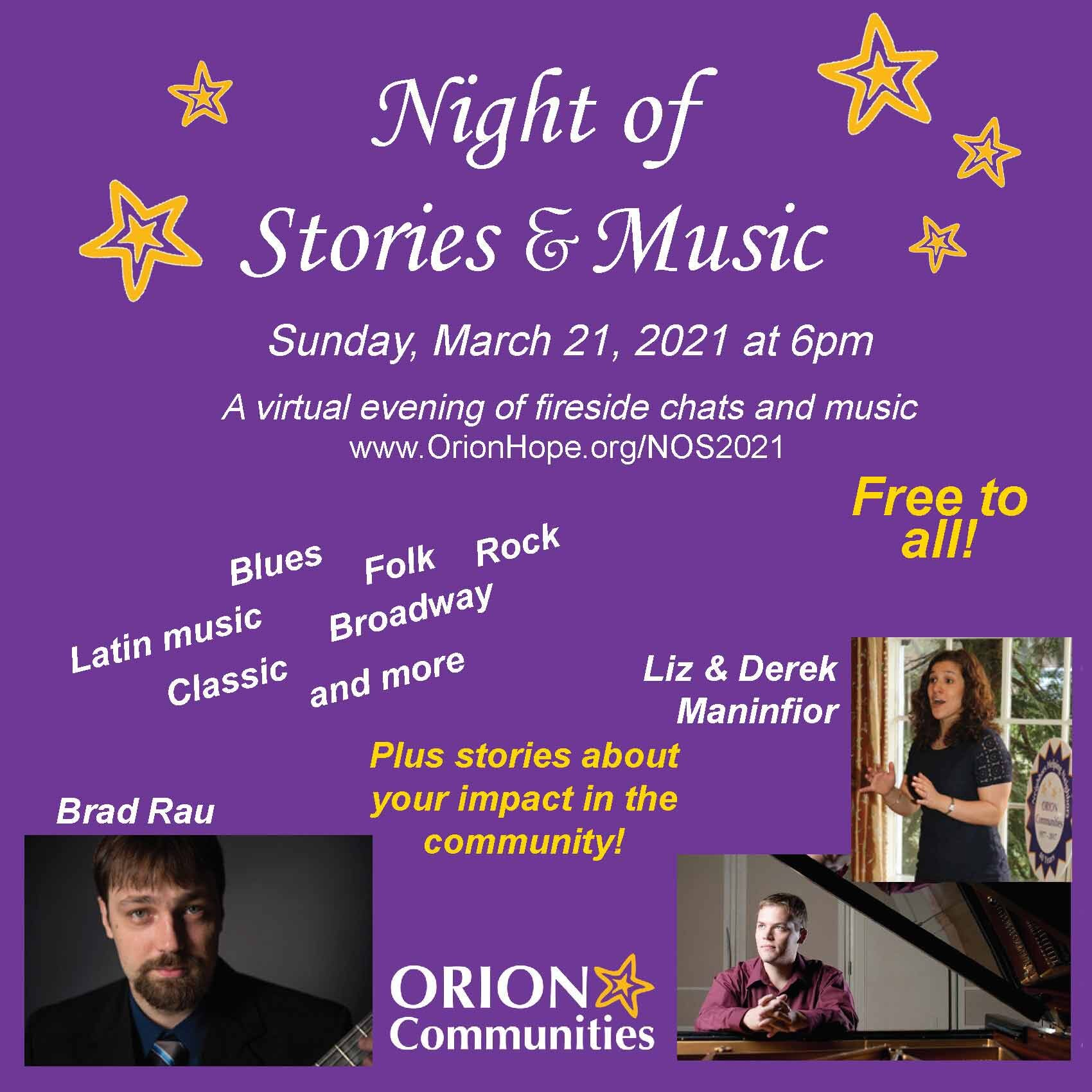 Night of Stories and Music